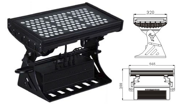 Led drita dmx,e udhëhequr nga puna,250W Sheshi IP65 DMX LED rondele mur 1, LWW-10-108P, KARNAR INTERNATIONAL GROUP LTD