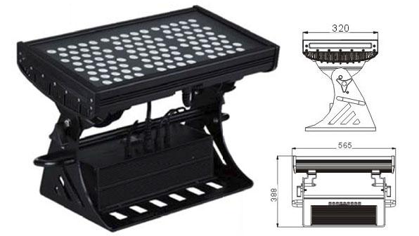 Led drita dmx,e udhëhequr nga drita industriale,250W Sheshi IP65 RGB LED dritë nga përmbytjet 1, LWW-10-108P, KARNAR INTERNATIONAL GROUP LTD
