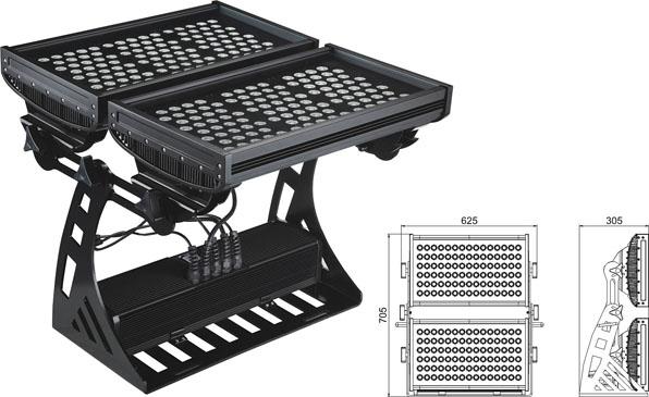 Led drita dmx,e udhëhequr nga drita industriale,250W Sheshi IP65 RGB LED dritë nga përmbytjet 2, LWW-10-206P, KARNAR INTERNATIONAL GROUP LTD