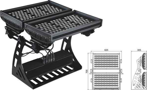 قوانغدونغ بقيادة المصنع,أدى ضوء العمل,500W مربع IP65 RGB LED ضوء الفيضانات 2, LWW-10-206P, KARNAR INTERNATIONAL GROUP LTD