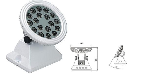 Led drita dmx,të udhëhequr nga prozhektor,25W 48W Sheshi me rondele mur LED 1, LWW-6-18P, KARNAR INTERNATIONAL GROUP LTD