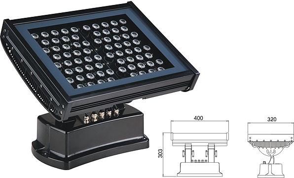 Led drita dmx,e udhëhequr nga puna,108W 216W Sheshi përmbytje LED lisht 2, LWW-7-72P, KARNAR INTERNATIONAL GROUP LTD