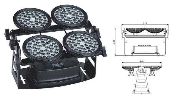 Led drita dmx,ndriçimi industrial i udhëhequr,Përmbytje nga llamba katrorë 155W 1, LWW-8-144P, KARNAR INTERNATIONAL GROUP LTD
