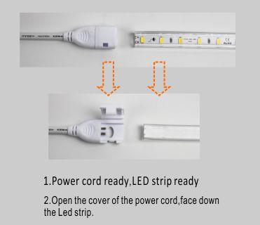 Guangdong udhëhequr fabrikë,të udhëhequr kasetë,110V AC Jo Wire SMD 5730 udhëhequr dritë strip 5, install_1, KARNAR INTERNATIONAL GROUP LTD
