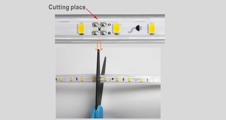 Led drita dmx,të udhëhequr fjongo,110V AC Jo Wire SMD 5730 udhëhequr dritë strip 9, install_5, KARNAR INTERNATIONAL GROUP LTD