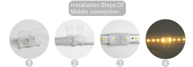 Led drita dmx,të udhëhequr strip,240V AC Nuk ka Wire SMD 5730 LEHTA LED ROPE 10, install_6, KARNAR INTERNATIONAL GROUP LTD