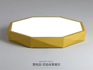 Guangdong udhëhequr fabrikë,Ngjyra me makarona,36W gjashtëkëndësh udhëhequr dritë tavan 6, yellow, KARNAR INTERNATIONAL GROUP LTD